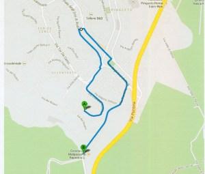 La mappa del percorso della fiaccolata