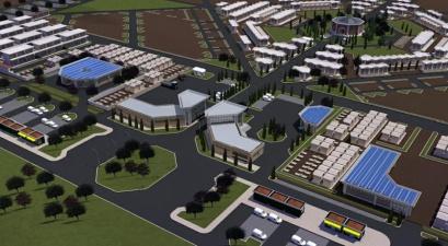 Un immagine del progetto del Cimitero Comprensoriale di 120.000 lucoli previsto sempre in località Passerano