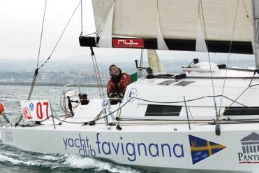 Matteo Miceli a bordo di ECO 40