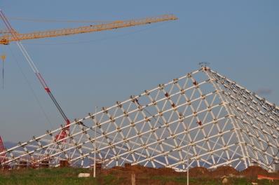 Lo Stadio del Nuoto che doveva sorgere a Tor Vergata, progettato dall'Architetto Santiago Calatrava