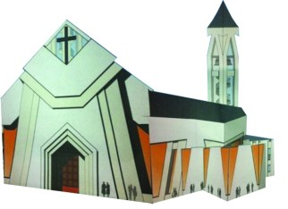 Un Rendering della futura Chiesa dedicata a San Giuseppe, così come immaginata dall'archietetto che ha redatto l'ultimo progetto