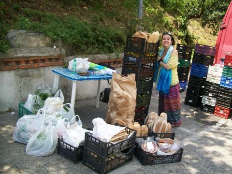La mole di doni conferiti all'iniziativa dai produttori del mercato contadino di zagarolo